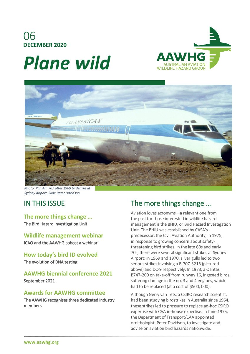 AAWHG Newsletter issue 6 2020 cover image
